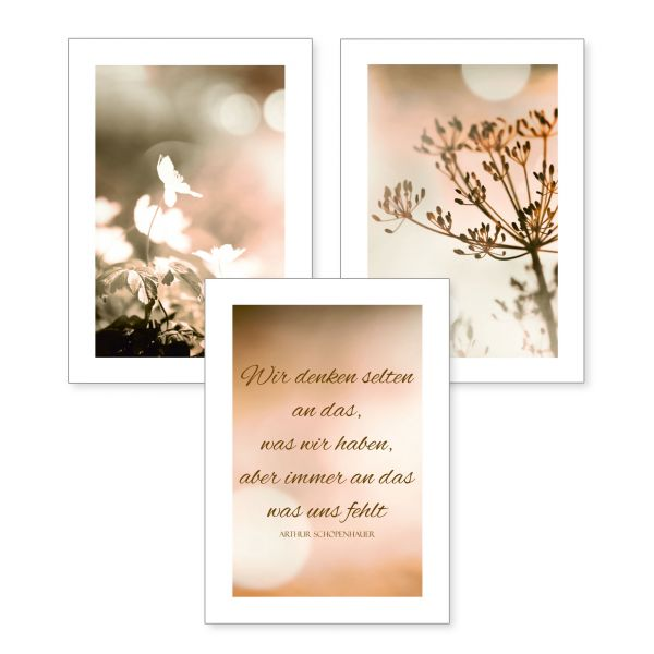 3-teiliges Poster-Set | Blüten | optional mit Rahmen | DIN A4 oder A3