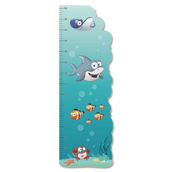 Meerestiere Messlatte fürs Kinderzimmer aus MDF
