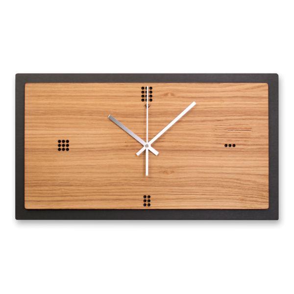 Designer Wanduhr aus Holz mit leisem Funk- oder Quarzuhrwerk