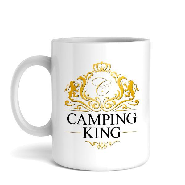 Tasse mit Motiv | Camping King / Queen | Keramiktasse | fasst ca. 300ml | ideales Geschenk