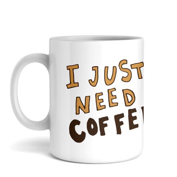 Tasse mit Motiv   I need Coffee   Keramiktasse   fasst ca. 300ml   ideales Geschenk