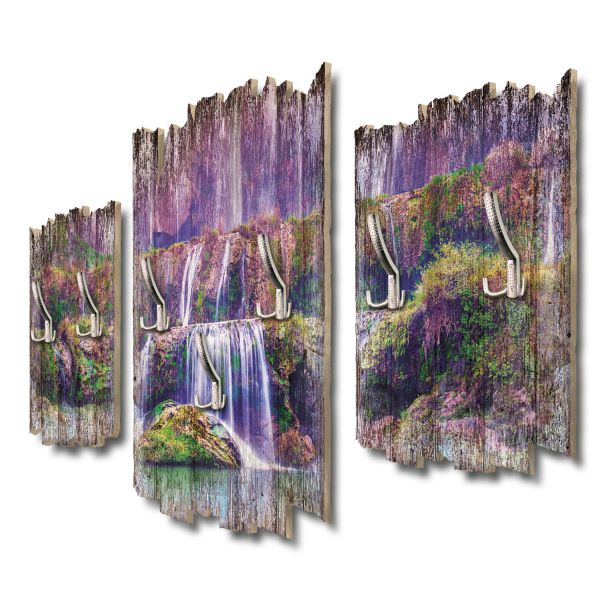 Lila Wasserfall Shabby chic 3-Teiler Garderobe aus MDF