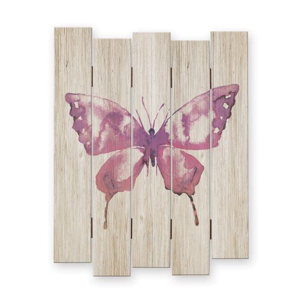 Schmetterling | Shabby chic Holzbild | ca.60x44cm