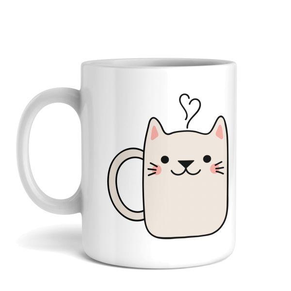 Tasse mit Motiv   Guten Morgen Katze   Keramiktasse   fasst ca. 300ml   ideales Geschenk