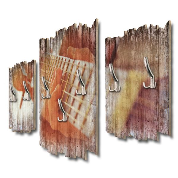 Gitarre Shabby chic 3-Teiler Garderobe aus MDF