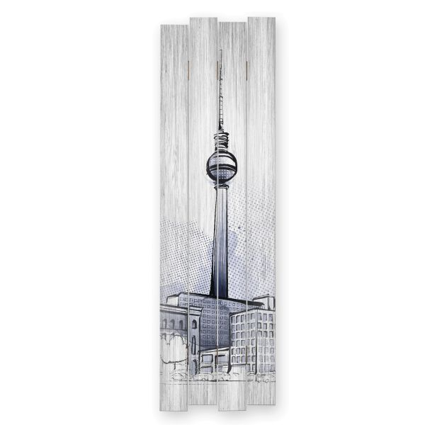 Berlin | Shabby chic Holzbild | ca.100x30cm