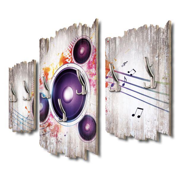 Loudspeaker Bright Shabby chic 3-Teiler Garderobe aus MDF