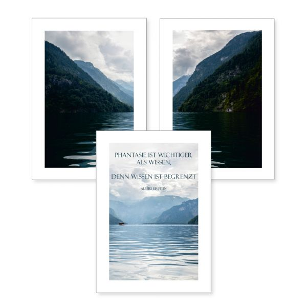 3-teiliges Poster-Set | Phantasie | optional mit Rahmen | DIN A4 oder A3