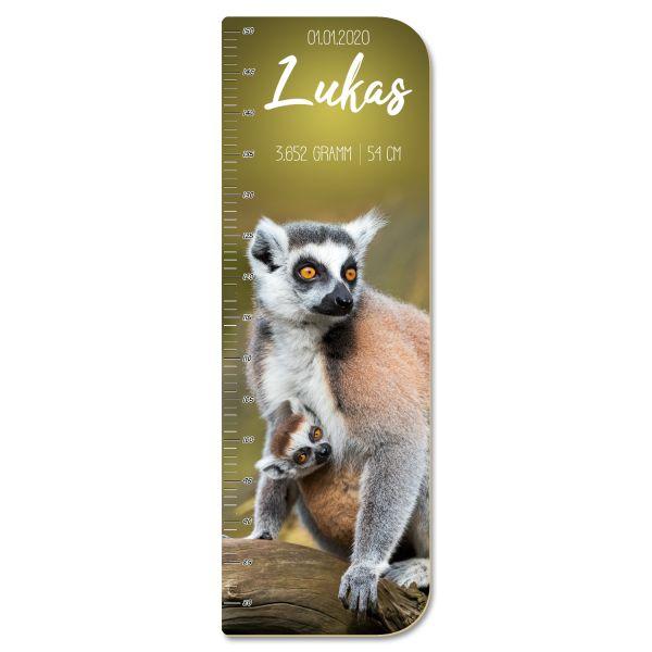 Lemuren Messlatte fürs Kinderzimmer aus MDF