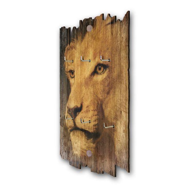 Löwenblick Schlüsselbrett mit 6 Haken im Shabby Style aus Holz