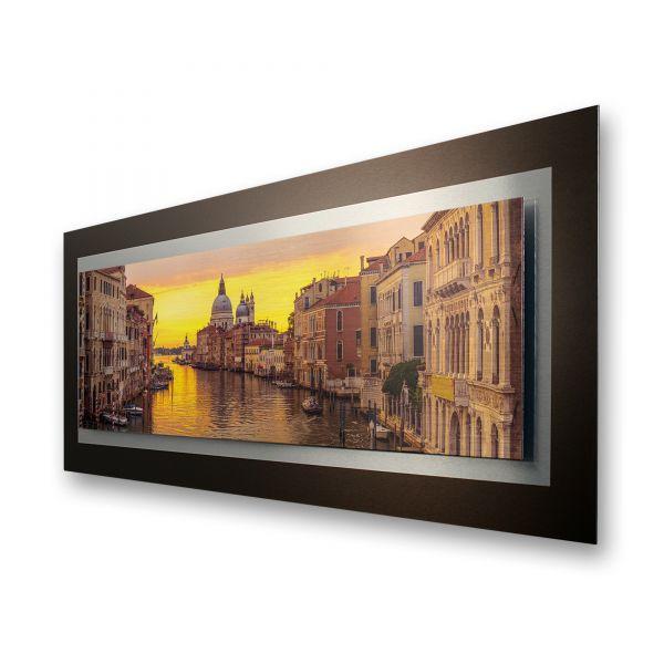 "3D Alu-Wandbild ""Venedig"" aus gebürstetem Aluminium"