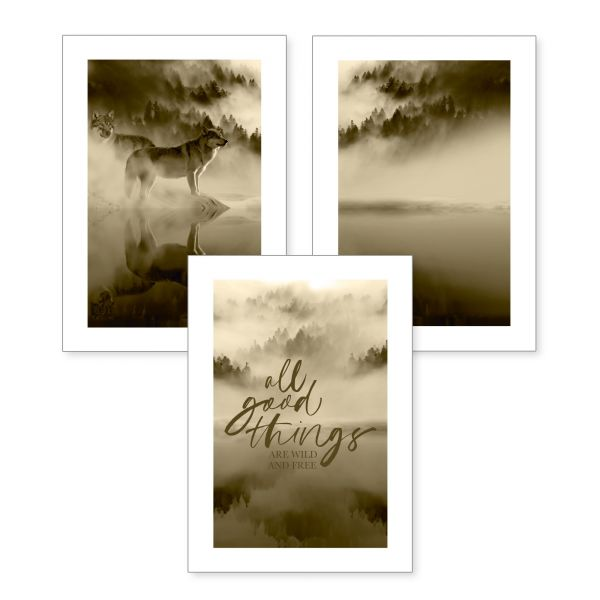 3-teiliges Poster-Set | All good things | optional mit Rahmen | DIN A4 oder A3