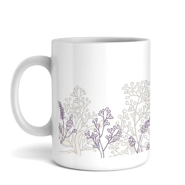 Tasse mit Motiv   Wildblumen   Keramiktasse   fasst ca. 300ml   ideales Geschenk