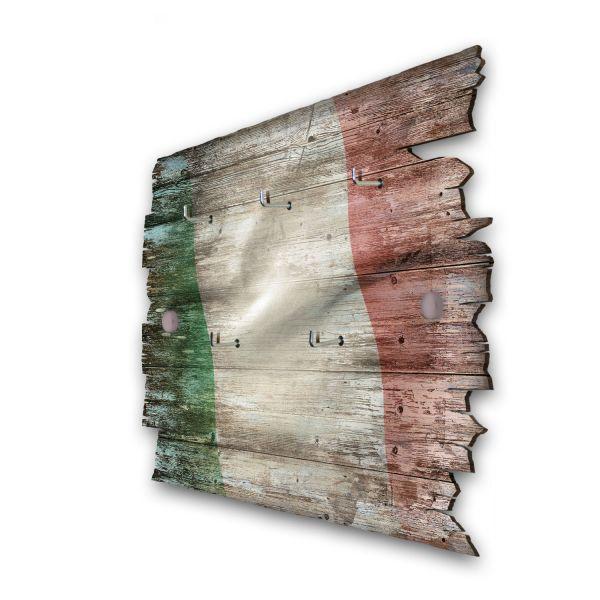 Italien Schlüsselbrett mit 5 Haken im Shabby Style aus Holz