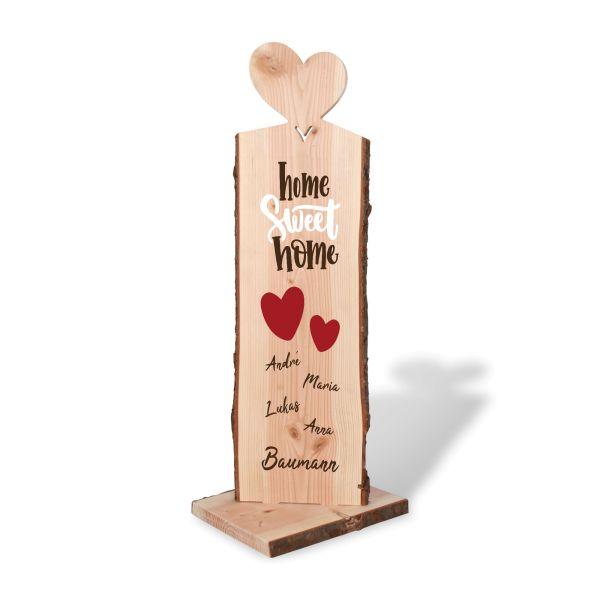 Home | Holzstele personalisiert mit Ihrem Wunsch-Text | ideale Deko für Haustür oder Garten