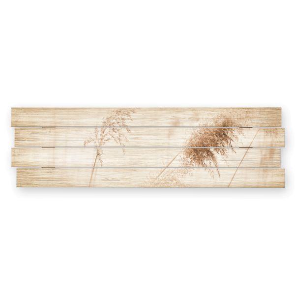 Gräser   Shabby chic Holzbild   ca.100x30cm