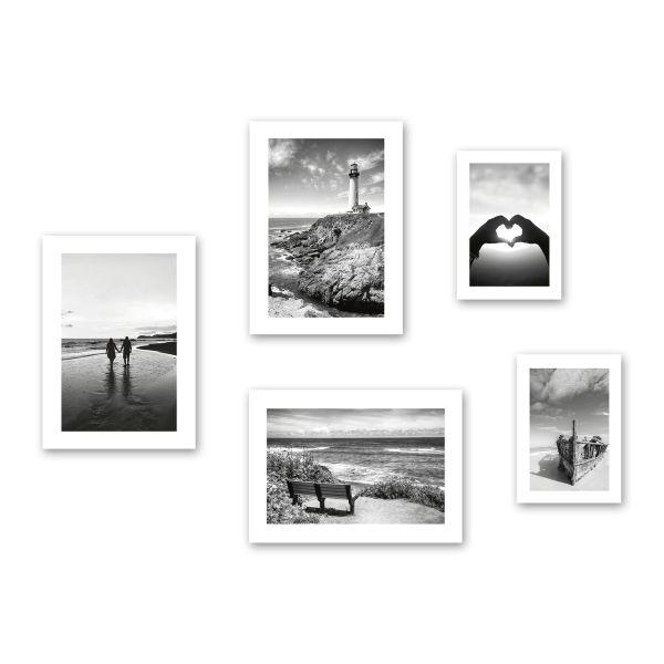 """""""Liebe"""" 5-teiliges Poster-Set - optional mit Rahmen - 3x DIN A3 & 2x DIN A4"""