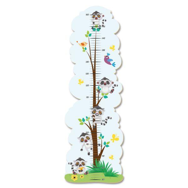 Lemurenbaum Messlatte fürs Kinderzimmer im Norwegian Style aus MDF