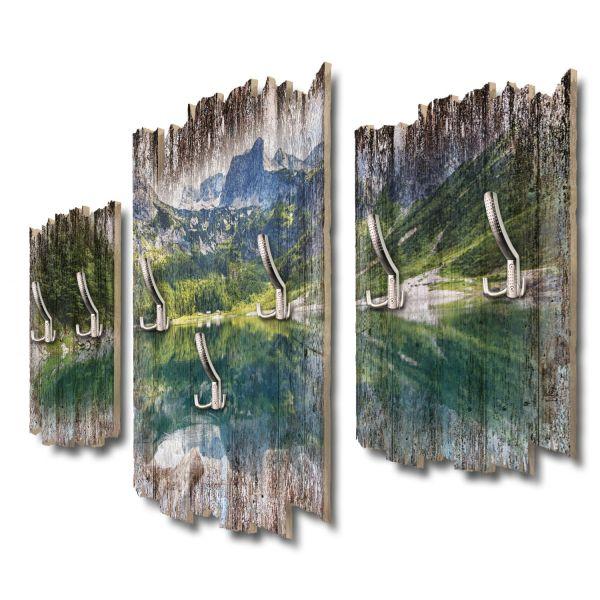 Bergseepanorama Shabby chic 3-Teiler Garderobe aus MDF