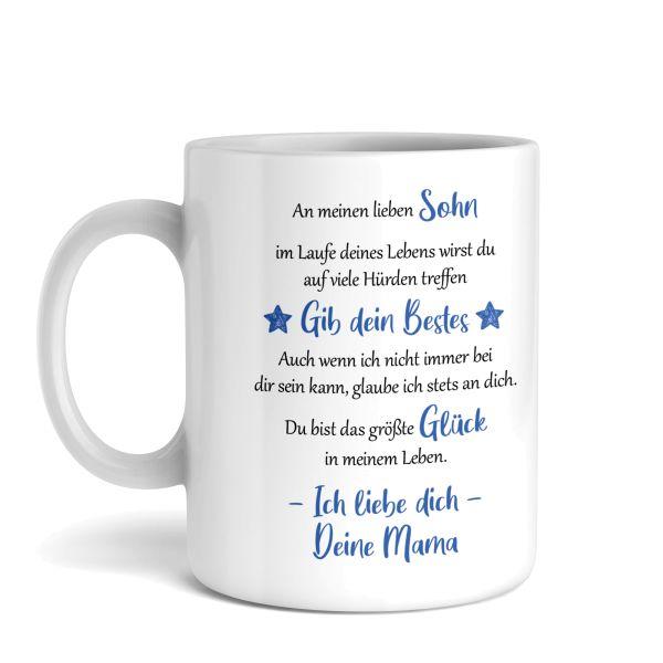 Tasse mit Motiv   Mutter & Sohn   Keramiktasse   fasst ca. 300ml   ideales Geschenk