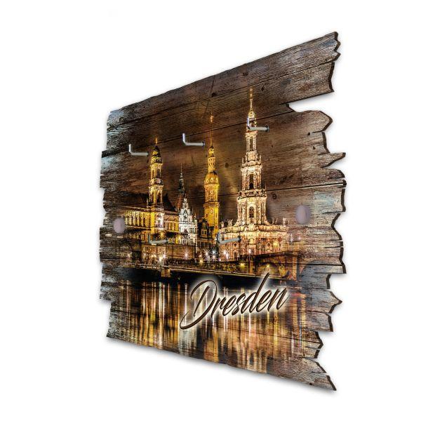 Dresden Schlüsselbrett mit 5 Haken im Shabby Style aus Holz