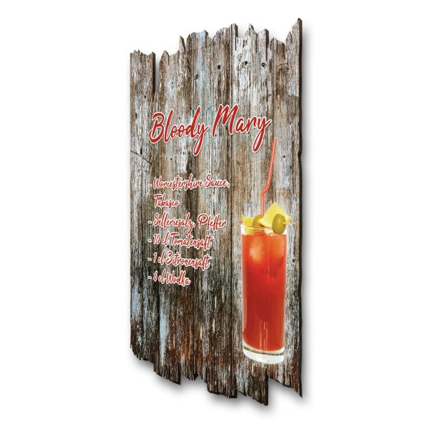 "Cocktail-Holzschild ""Bloody Mary"""