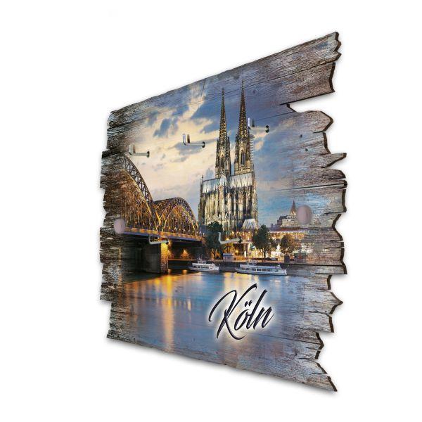 Köln Schlüsselbrett mit 5 Haken im Shabby Style aus Holz