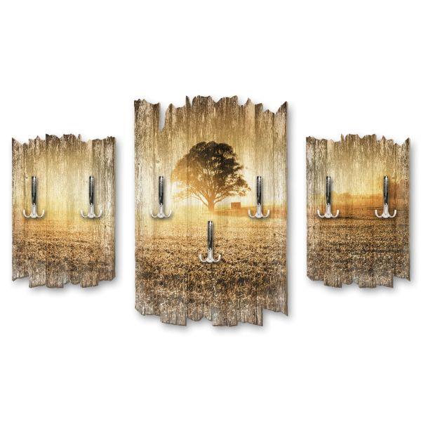 Einzelner Baum Shabby chic 3-Teiler Garderobe aus MDF