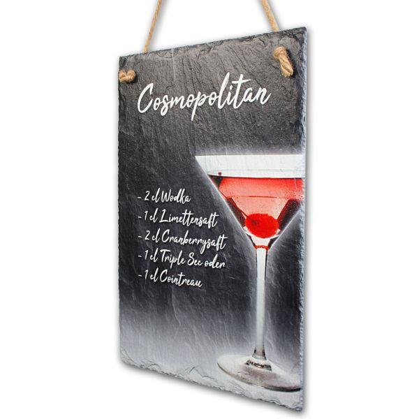 """Cocktail-Schieferschild """"Cosmopolitan"""""""