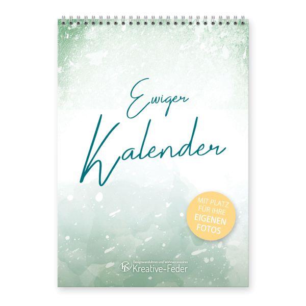 Ewiger Kalender   Dezent   immerwährend & jahresunabhängig   ideal für Geburtstage   DIN A4