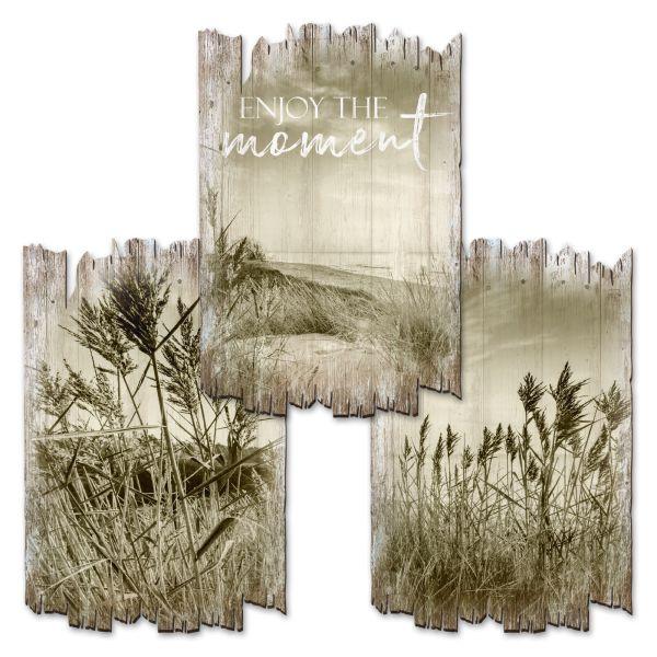 Strand | Deko-Holzschilder im 3er Set | wahlw. in 30x20cm oder 30x45cm