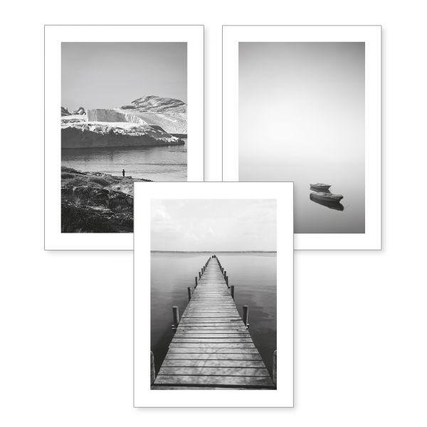 3-teiliges Poster-Set | Fokus | optional mit Rahmen | DIN A4 oder A3