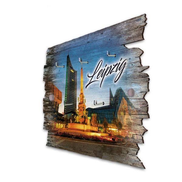 Leipzig Schlüsselbrett mit 5 Haken im Shabby Style aus Holz