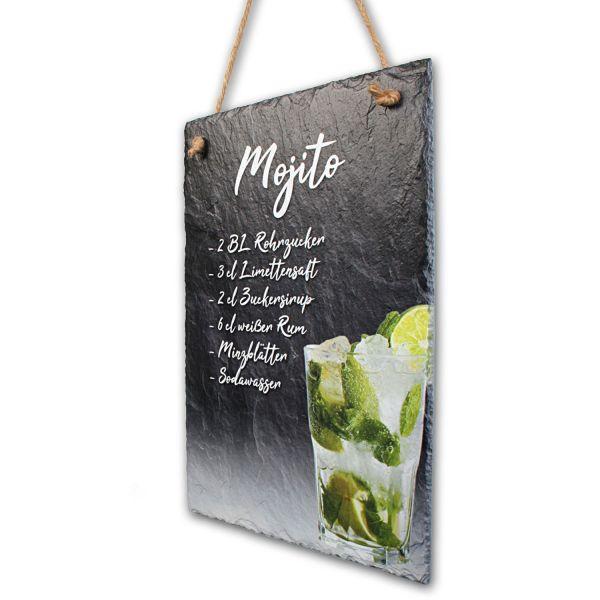 "Cocktail-Schieferschild ""Mojito"""