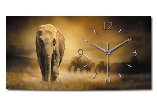 Wanduhr Elefant aus Alu-Verbund mit leisem Funkuhrwerk