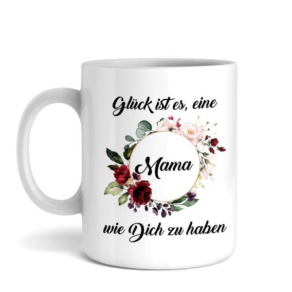 Tasse mit Motiv | Glück ist | Keramiktasse | fasst ca. 300ml | ideales Geschenk