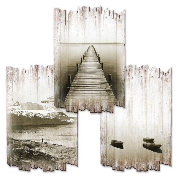 Fokus | Deko-Holzschilder im 3er Set | wahlw. in 30x20cm oder 30x45cm