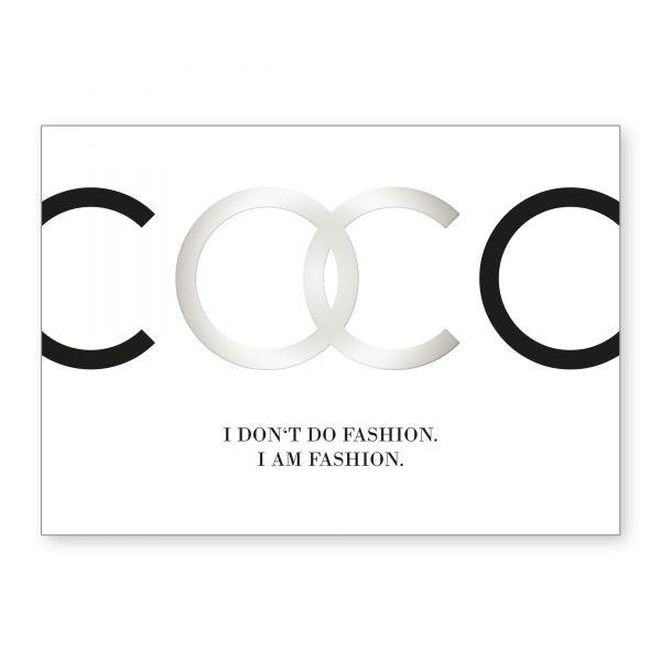 """Coco"" mit Chrom-Effekt veredeltes Poster - optional mit Rahmen - DIN A4"