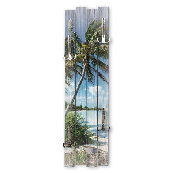 Palmenstrand | Shabby chic Holz-Garderobe | ca.100x30cm aus MDF