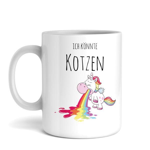 Tasse mit Motiv | Ich könnte kotzen | Keramiktasse | fasst ca. 300ml | ideales Geschenk