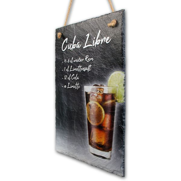 "Cocktail-Schieferschild ""Cuba Libre"""