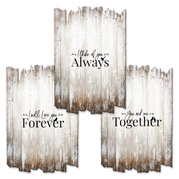Forever | Deko-Holzschilder im 3er Set | wahlw. in 30x20cm oder 30x45cm