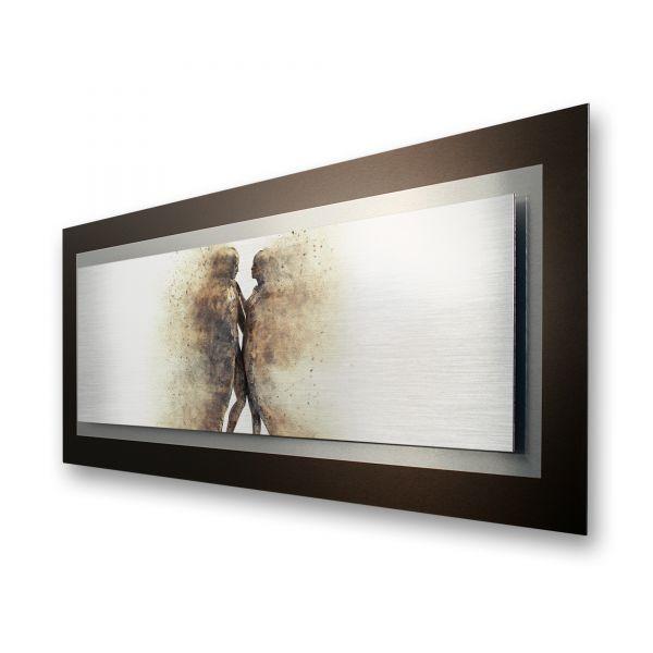 "3D Alu-Wandbild ""Love"" aus gebürstetem Aluminium"