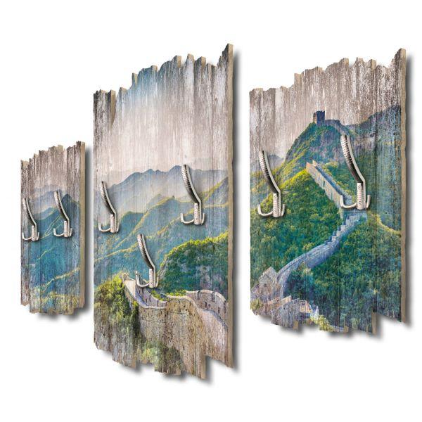 Chinesische Mauer Shabby chic 3-Teiler Garderobe aus MDF