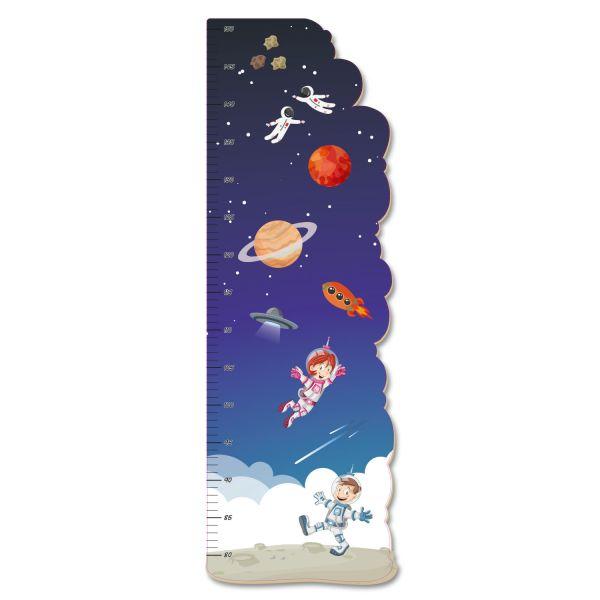 Weltraum Messlatte fürs Kinderzimmer aus MDF