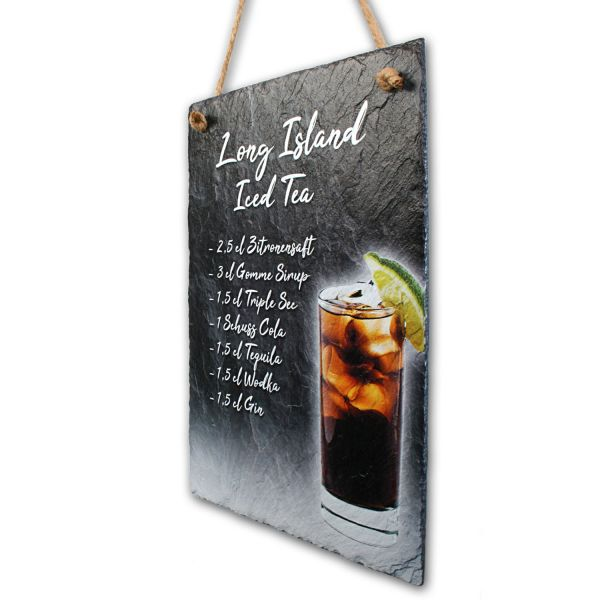 """Cocktail-Schieferschild """"Long Island Iced Tea"""""""