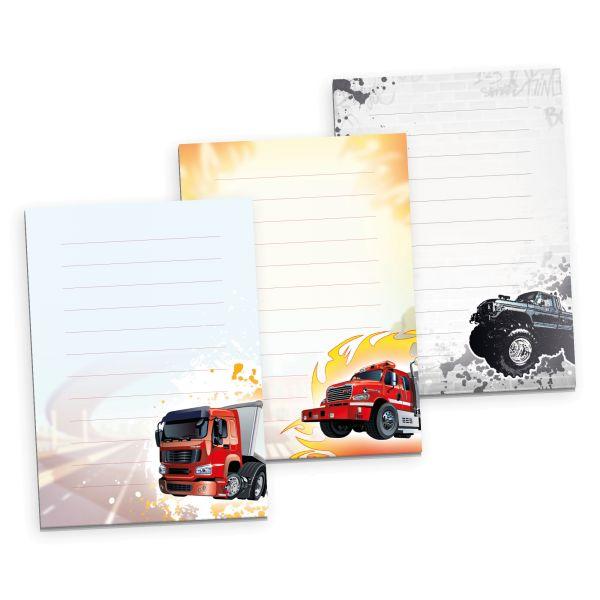 3er Briefpapier-Set für Kinder   Fahrzeuge   3 DIN A5 Briefpapier-Blöcke à 50 Blatt